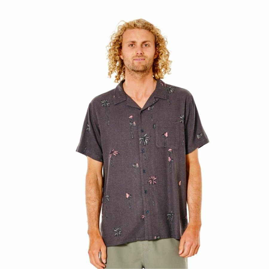 Shroom Vaction S/s Shirt Mens Tee Shirts Colour is Washed Black