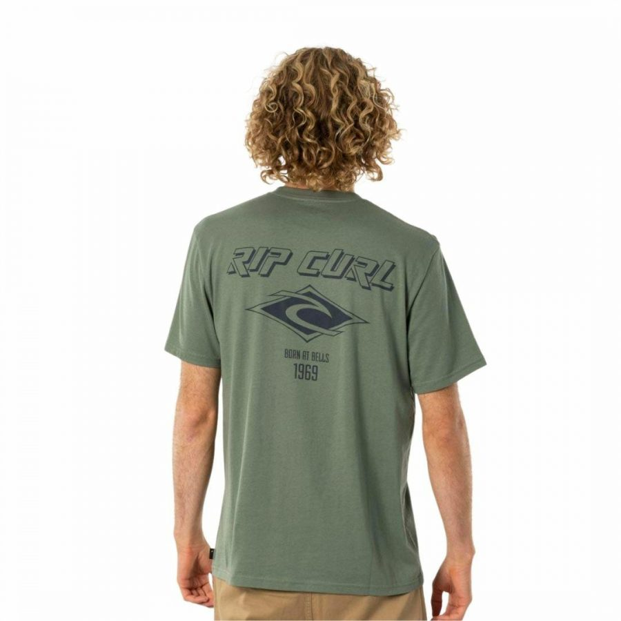 Fadeout Essential Tee Mens Hooded Tops And Crew Tops Colour is Mid Green