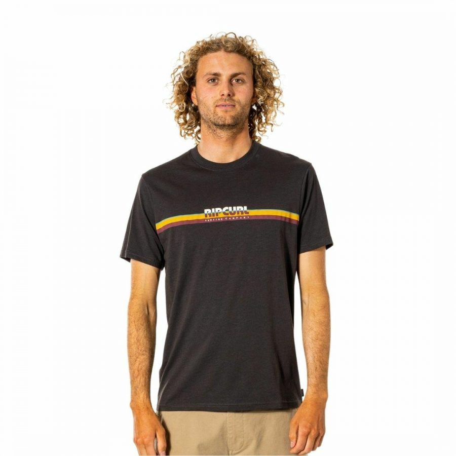 Surf Revival Tee Mens Tee Shirts Colour is Washed Black