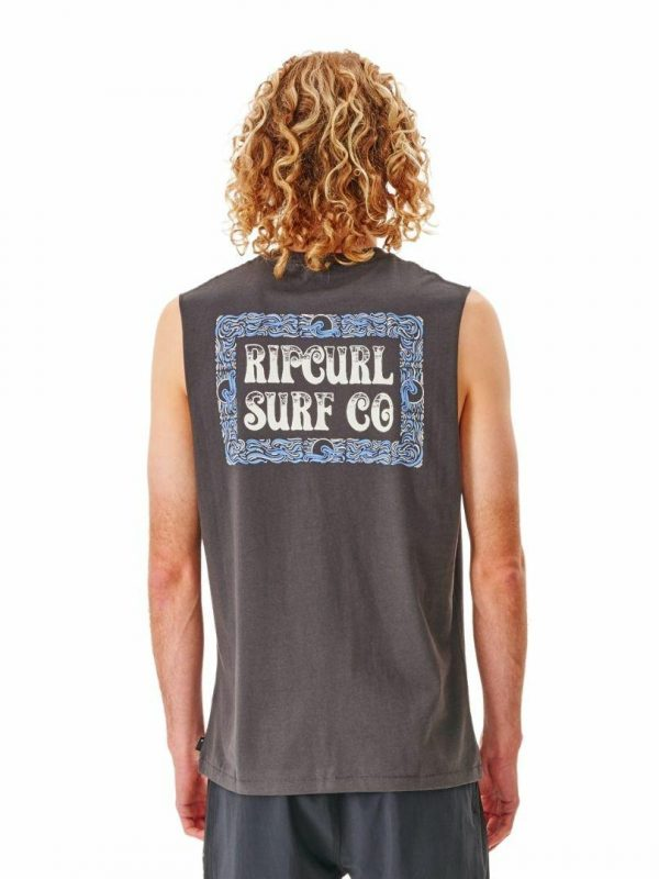 Coil Muscle Mens Tee Shirts Colour is Washed Black