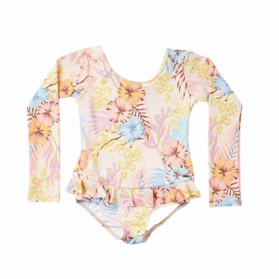 Aloha Surf L/s 1pc - Girl Kids Toddlers And Groms Swim Wear Colour is Light Pink