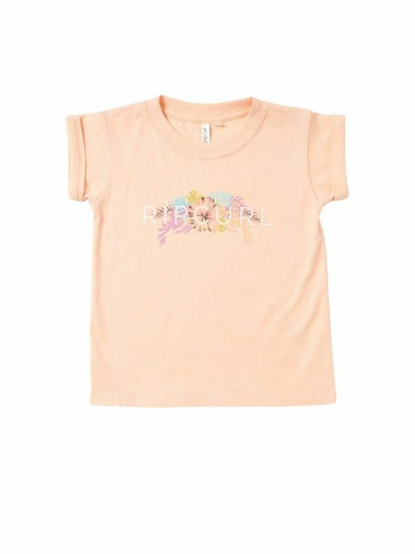 Paradise Logo Tee - Girl Kids Toddlers And Groms Tee Shirts Colour is Peach