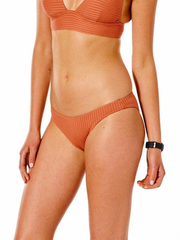 Premium Surf Cheeky Pant Womens Swim Wear Colour is Rhubarb
