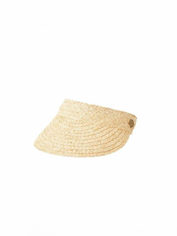 Essential Straw Visor Womens Hats Caps And Beanies Colour is Natural