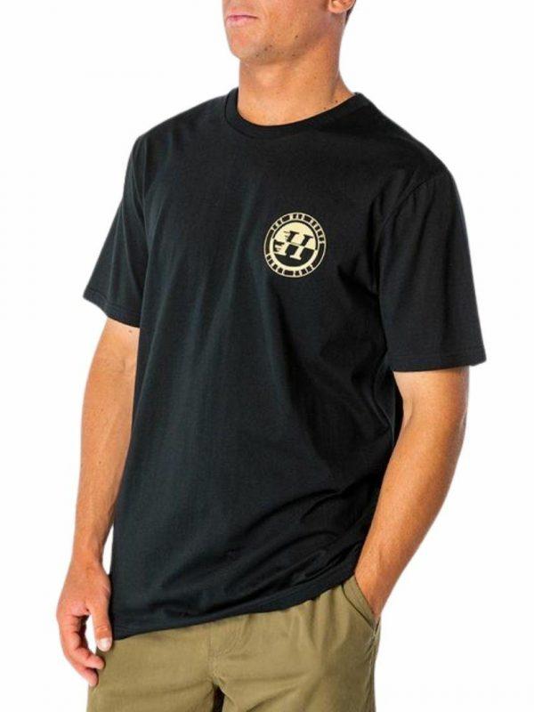 Custom H Short Sleeve Tee Mens Tops Colour is Black