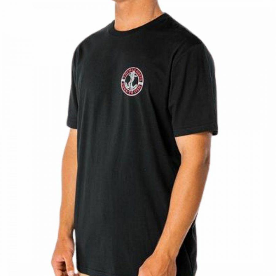 Anchor Drift Ss Tee Mens Tops Colour is Black