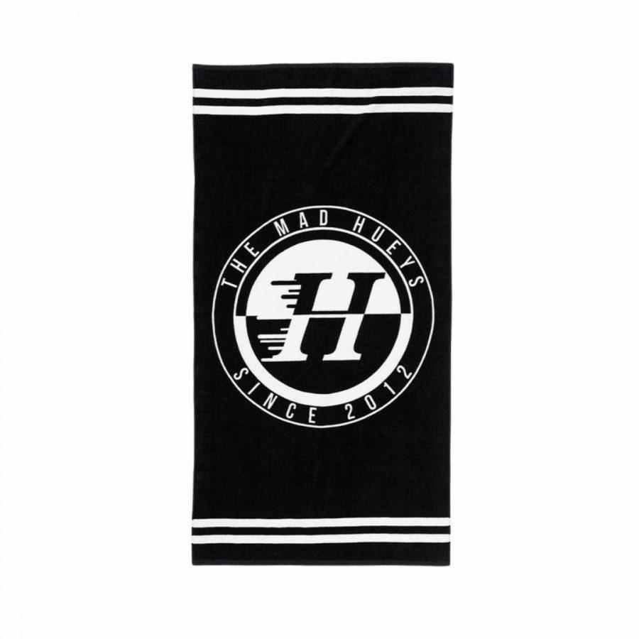 Custom Beach Towel Mens Beach Accessories Colour is Black
