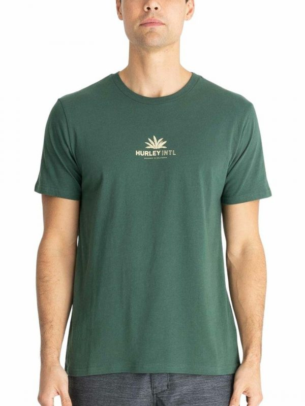 Evd Wsh+ Palm Tops Tee Mens Tee Shirts Colour is Galactic Jade