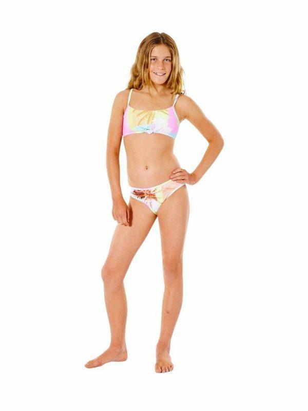 Twin Fin Bikini - Girl Girls Swim Wear Colour is Pink