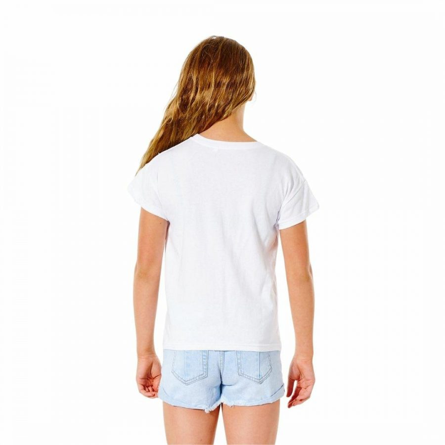 Poster Art Tee - Girl Girls Tee Shirts Colour is White