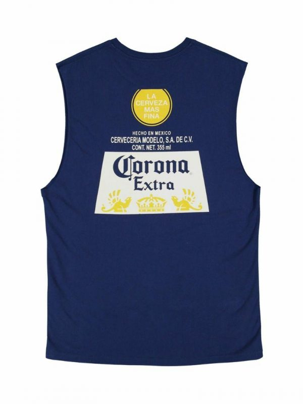Corona Label Musc Mens Tee Shirts Colour is Navy