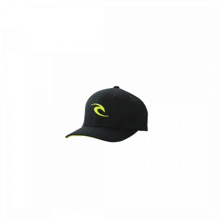 Tepan Weld Flexfit Cap-bo Boys Hats Caps And Beanies Colour is Black/lime