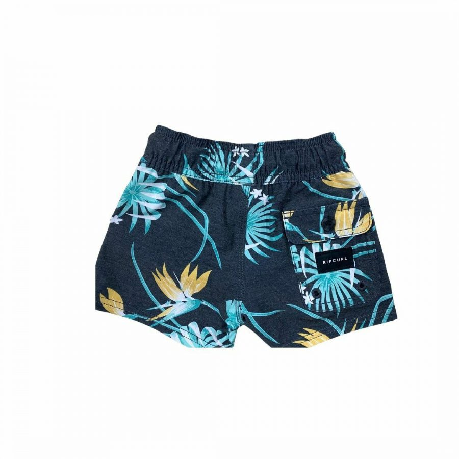 Marley Volley-boy Kids Toddlers And Groms Boardshorts Colour is Black