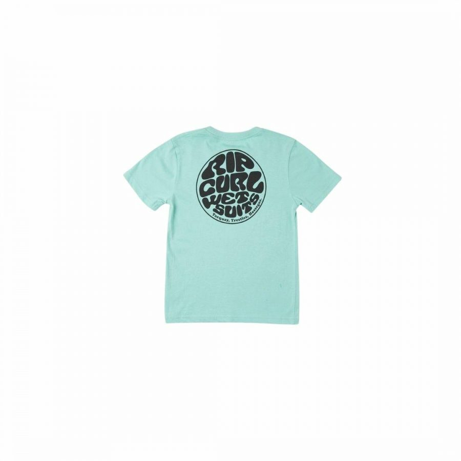 Wetsuit Icon Tee Kids Toddlers And Groms Tee Shirts Colour is Washed Aqua
