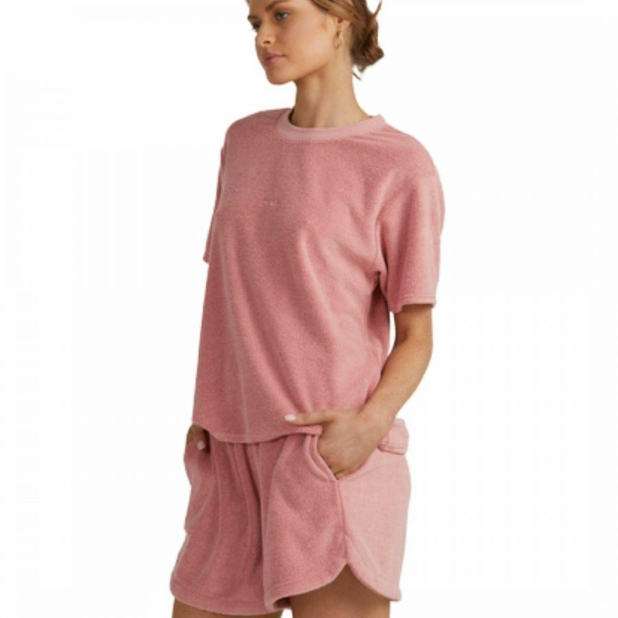 Terry Easy Tee Womens Tops Colour is Dusty Rose
