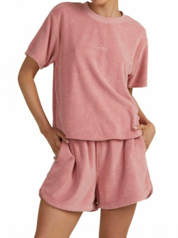 Terry Pops Short Womens Walkshorts Colour is Dusty Rose
