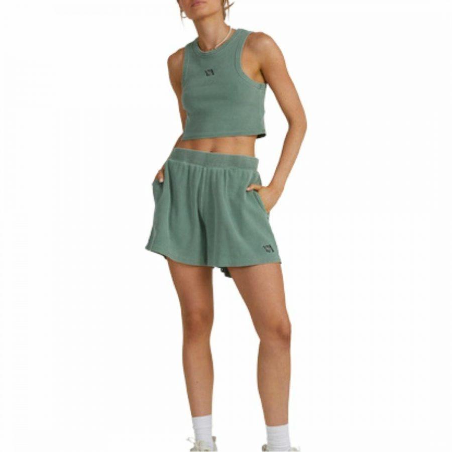 Va Pops Short Womens Walkshorts Colour is Dark Ivy
