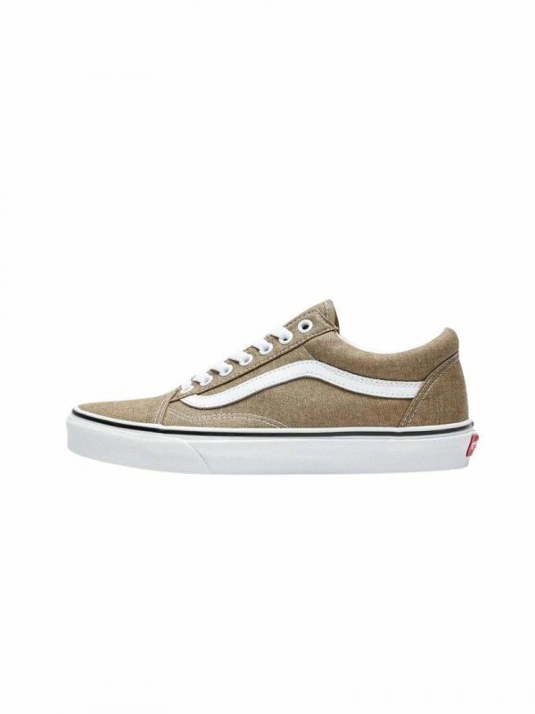Old Skool Bronze Mens Shoes And Boots Colour is Bronze White