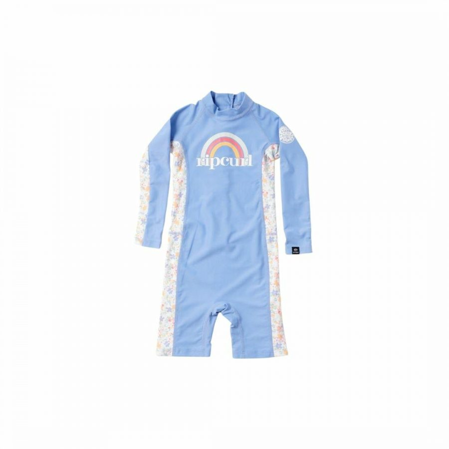Girls 0-6 Ls Uv Spring Kids Toddlers And Groms Rash Shirts And Lycra Tops Colour is Blue