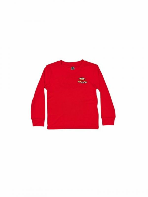 Boys 0-6 Diamond Fade Ls Kids Toddlers And Groms Rash Shirts And Lycra Tops Colour is Red