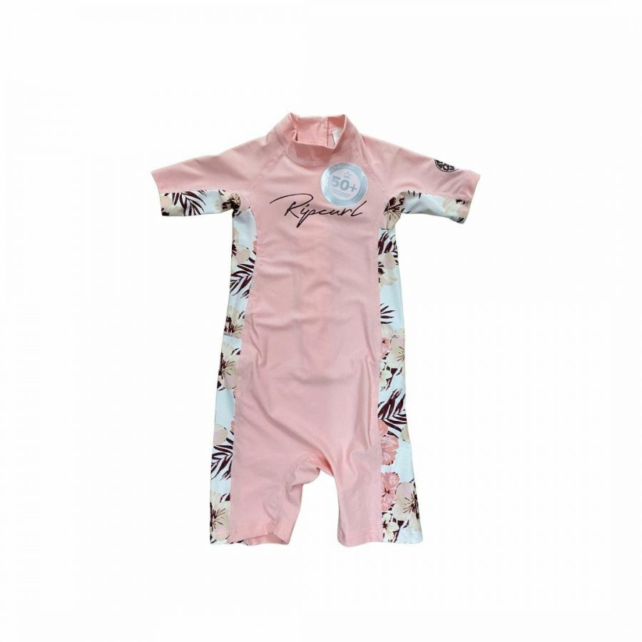 Girls 0-6 Ss Uv Spring Kids Toddlers And Groms Rash Shirts And Lycra Tops Colour is Pink