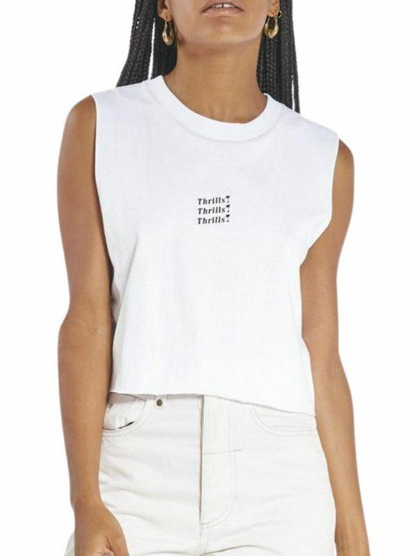 Unlimited Crop Womens Tops Colour is White