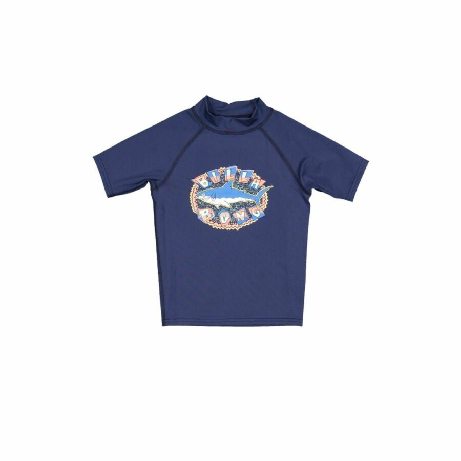 Groms Sharky Rf S Kids Toddlers And Groms Rash Shirts And Lycra Tops Colour is Navy