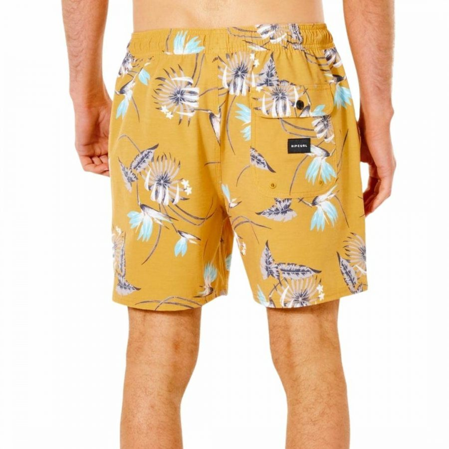 Marley Volley Mens Boardshorts Colour is Mustard