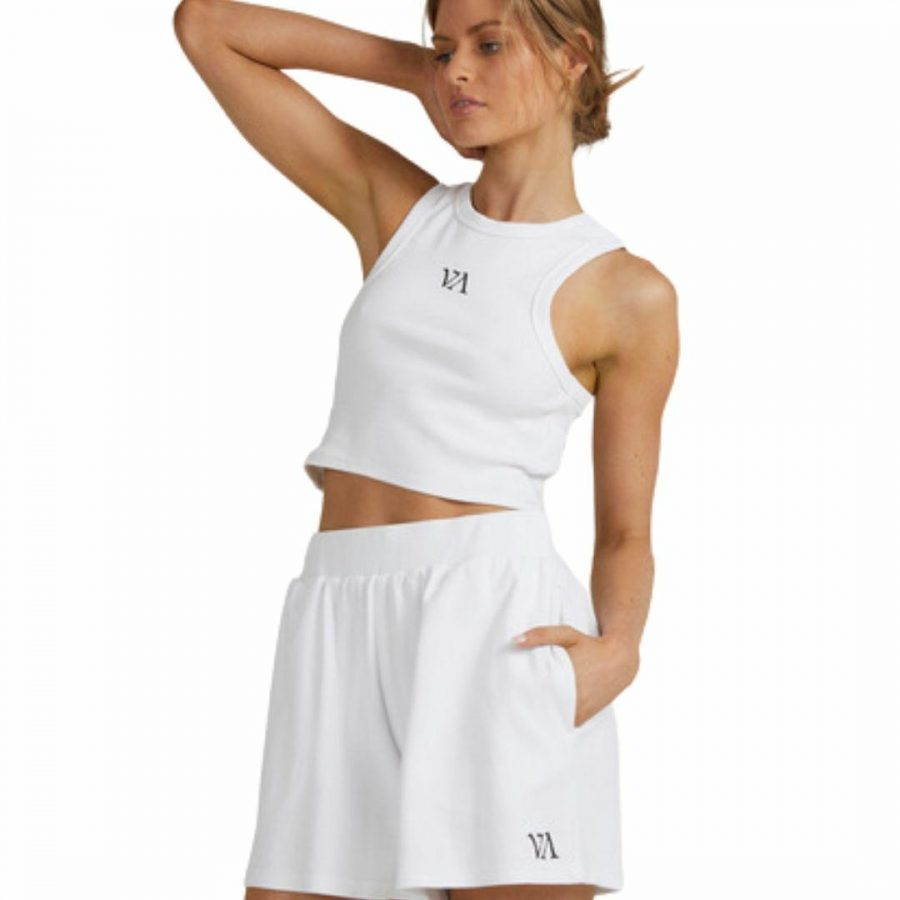 Va Rvca Tank Womens Tanks And Singlets Colour is Antique Whit